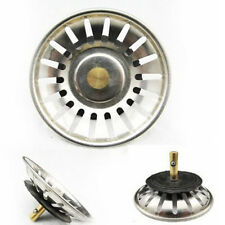Stainless Steel Grips Kitchen Sink Strainer Drain Basket Stopper Sliver