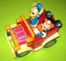 Mickey Mouse and Donald Duck Trolly Car Jeep Red Yellow Disney Disneyland