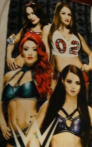 WWE Wrestling Total Divas character beach towel