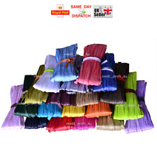 20 COLOURS Raffia Paper Gifts Ribbon Decorating Scrapbooks FAST & FREE P&P CHEAP