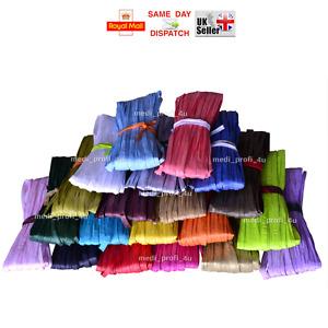 20 COLOURS Raffia Paper Gifts Ribbon Decorating Scrapbooks Craft Cord DIY