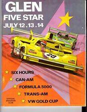 Watkins Glen Can Am-Trans Am Race July 12-14 1974 Program