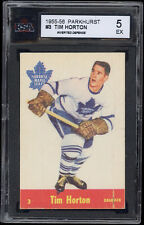 "1955-56 Parkhurst #3 Tim Horton Error (""Defense"" reversed or inverted) KSA 5"