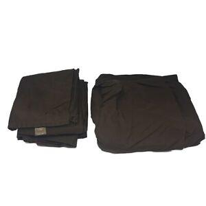 Fieldcrest Luxury Double Bed Full Bed Sheet Set Brown Fitted Sheet & Flat Sheet