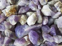 1/2 lb AMETHYST Madagascar Bulk Tumbling Rough Rock Stones Healing Crystals FS