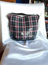 Xoxo black and plaid purse.