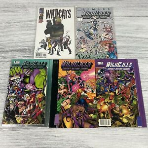 Lot Of 5 Wildcats Comic Books Source Books