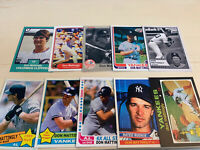 Don Mattingly Rookie 55 Card Lot Custom Novelty Art Card Display Only Christmas