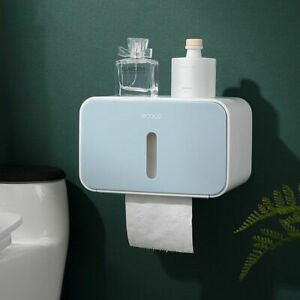 Bathroom Toilet Paper Waterproof Holder With Cover Plastic Materials Home Supply