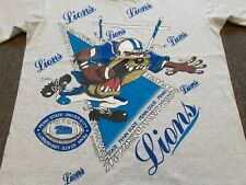 Vtg 90s 1994 Looney Tunes x Penn State Lions Double Sided T Shirt Gray Large L