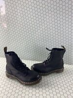 Dr. Martens 1460 PASCAL Black Leather Lace Up Ankle Boots Women's Size 7
