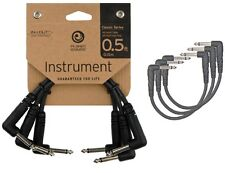Planet Waves 0.5 Feet Classic Series Instrument Cable Right Angle - Pack of 3