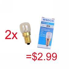 2Pcs WSDCN E14 T22 15W 220V~240V Oven Bulb Oven Lamp Heat Resistant Bulb 300'C