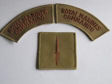 Royal Marines Commando, khaki,1 Paar Schriftzüge & Dagger Badge