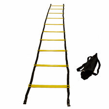 WORKOUTZ 15FT AGILITY LADDER PRO WITH CARRY BAG SOCCER TRAINING FOOTBALL SPEED