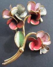 Pretty Vintage Flower Pin Marked Czechoslovakia