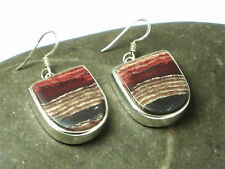 Red  JASPER   Sterling  Silver  925  Gemstone  EARRINGS  -  Gift  Boxed