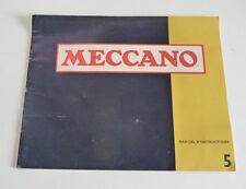 Ancien Livret de  MECCANO  N° 5