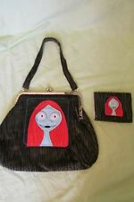 New Disney Tim Burton Nightmare Before Christmas Sally Purse & Wallet Corduroy