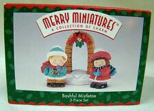 1995 Hallmark Merry Miniatures ~Bashful Mistletoe~ 3 Pc. Set Nib