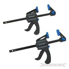 """100mm 4"""" Quick Clamps 2pk Lever Action Clamping For Model Glue Projects 250108"""