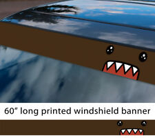 "60"" Domo JDM Stance Kun Funny Low Sun Strip Printed Windshield Sticker Decal"