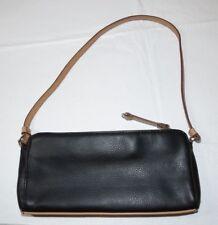 Tommy Hilfiger small leather Purse handbag shoulder bag black tan
