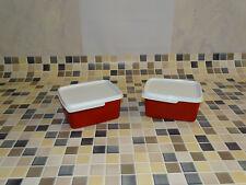 Tupperware Kühle Ecken 2x 500ml rot-weiß Neu RARITÄT