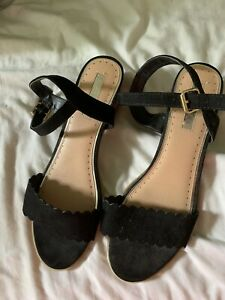 Miss KG Kurt Geiger Black Sandals Size 41 Uk 8 Worn Once