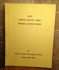 OHIO - SCIOTO COUNTY,  FEDERAL CENSUS INDEX 1870, HOH, BOARDERS, OLDEST CHILD
