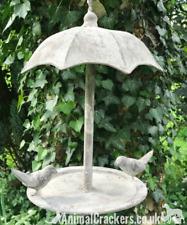 Sturdy galvanised metal Umbrella hanging Bird Feeder garden bird lover gift
