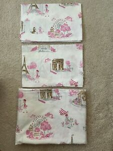 Pottery Barn Kids PARIS TOILE Twin Set GIRLS Made in Israel