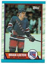 1989-90 Topps #136 Brian Leetch HOF RC Rookie