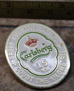 Carlsberg Beer Cross Country Skiing Collectible Pin 15km Count the Kilometres