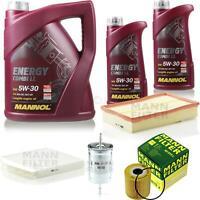 Motor-Öl 7L MANNOL 5W-30 Combi LL+MANN-FILTER Filterpaket Filterpaket