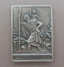 Autoplakette Heiliger Christopherus ca. 3,9 cm hoch zum Ankleben Metall Ki 2884
