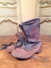 Rare 1912 - 1920 L.L Bean Maine Hunting Rubber Boots First Years Display Size 9