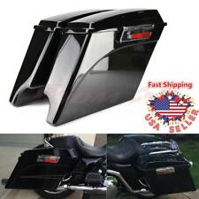 5 Stretched Extended Hard Saddlebags Trunk W/ Lid For Harley Flh Flt 1993-2013 Electra Road Glide Convenience Goods Leather & Saddle Bags