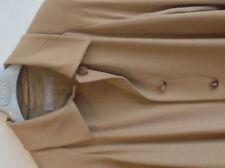 COAT BY AGNONA WOMENS CAMEL-COLOUR 100% PURE CASHMERE SIZE UK 16 / EU 44.