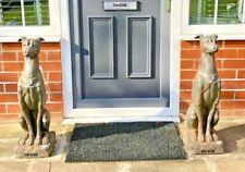 Elegant Greyhound Resin Dog Garden Entrance Statue Ornament Decore