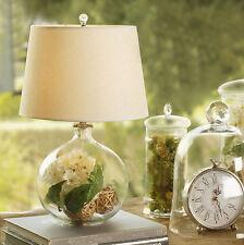 Elegant European Country Style Transparent  Glass Bedside Desk Table Lamp DIY