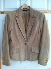 Tan Suede Leather Jacket Context Women's 12 Blazer