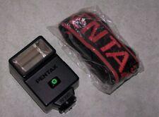 PENTAX SHOE MOUNT FLASH GUN AF200t  + Pentax Shoulder strap + Case