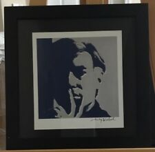 "Andy Warhol Hand Signed Print 1986 ""Self Portrait"" COA"