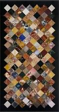 """72"""" x 36"""" Marble Center Pietra  Dura Multi Colour Inlay Work Dining Table Top"""