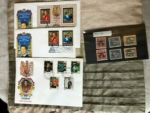 Cook Island Stamps FDC Job Lot Inc Niue1935 King George V Silver Jubilee (ST12)