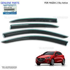 Black Rain Visor Weather Guards For Mazda 2 Sky Active Hatchback Genuine OEM 15