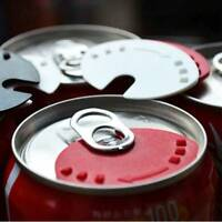 5PCS Beverage Can Lid Cap Soda Beverage Drink Snaps Tops Cover Beer T