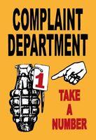 Complaint Department Blechschild Schild gewölbt Metal Tin Sign 20 x 30 cm