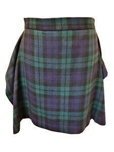 Vivienne Westwood Anglomania Tartan check Kilt Skirt Size 44 UK 12